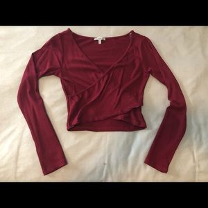 Charlotte Russe long sleeve crop top